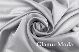 Шелк-вуаль серого цвета, с утяжелителем, 330 см, Турция