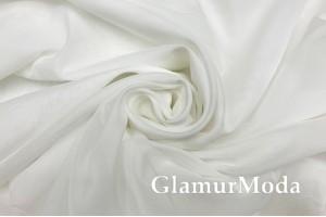 Шелк-вуаль кремовый цвет, с утяжелителем, 330 см, Турция