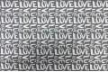 Дак (DUCK), LOVE  на сером фоне, 180 см