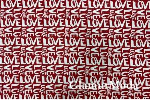 Дак (DUCK), LOVE  на красном фоне, 180 см
