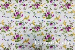 Дак (DUCK), фиолетовые цветы на мятном фоне, 180 см