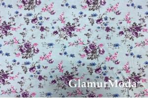 Дак (DUCK), фиолетовые цветы на голубом фоне, 180 см