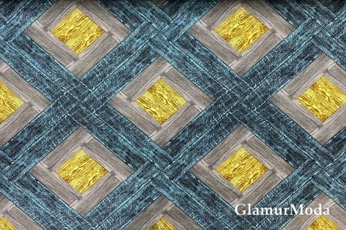 Дак (DUCK), жёлто-бирюзовая плитка, 180 см