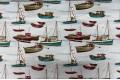 Дак (DUCK) корабли на светло-бирюзовом фоне, 180 см