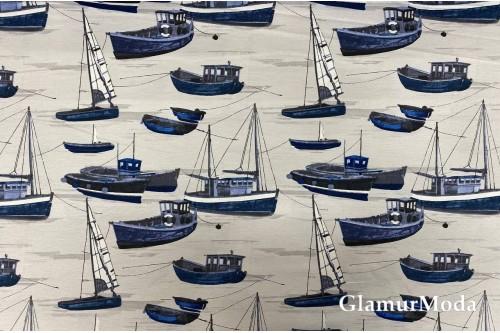 Дак (DUCK) корабли на бежевом фоне, 180 см
