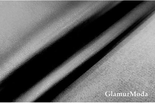 Искусственная кожа на замше чёрного цвета
